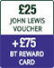 £25 John Lewis voucher plus £75 BT Reward Card