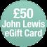 John Lewis £50 E-Giftcard